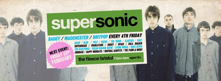 Supersonic Britpop / Madchester / Baggy Club Night