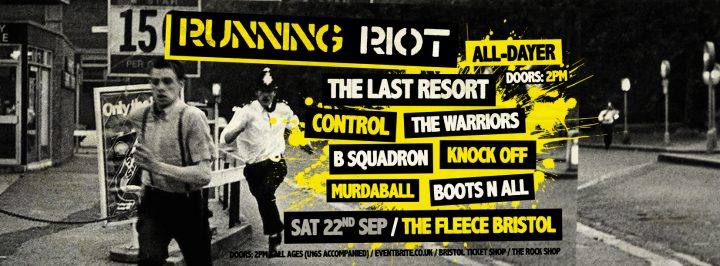 Running Riot All-Dayer ft. The Last Resort + 6 more bands