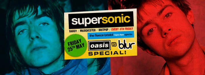 Supersonic Britpop Club Night: Blur vs Oasis Special